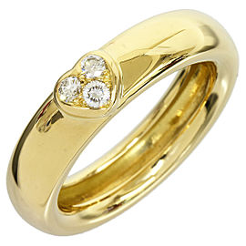 Tiffany & Co. 18K Yellow Gold Three Diamond Ring