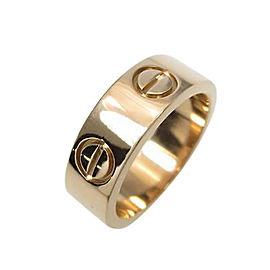 Cartier 18K Rose Gold Motive Love Ring 4