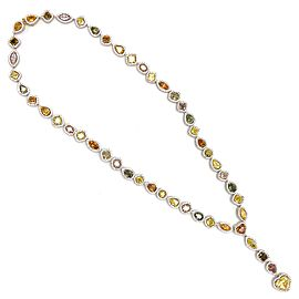18k White Gold Fancy Diamond Color Necklace
