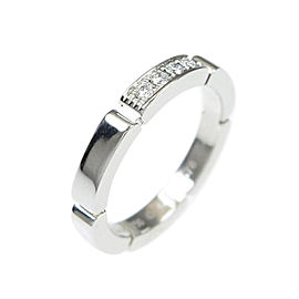 Cartier 18K White Gold Maillon Panther Ring Size: 4.5