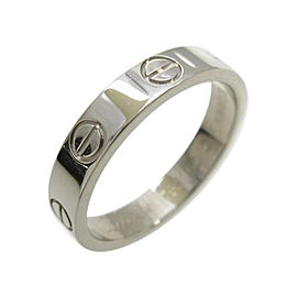 Cartier 18K White Gold Mini Love Ring Size 4.75