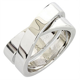 Cartier 18K White Gold Paris Band Ring Size 6