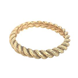 Chanel Metal Gold Bangle Bracelet