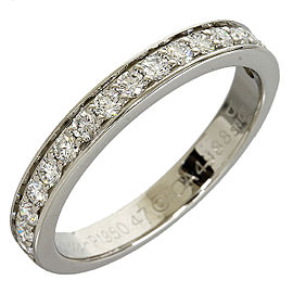 Cartier Platinum PT950 Half Eternity 17P Diamonds Ring