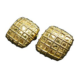 Hermes Metal Gold Earrings
