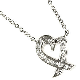 Tiffany & Co. PT950 Platinum Loving Heart Necklace