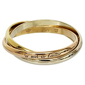 Cartier 18K Pink White and Yellow Gold Trinity 3 Bands Ring Size 6.75