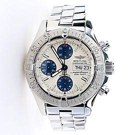 Breitling Chronometre Superocean 42MM Day Date Steel Watch