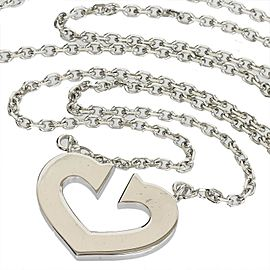 Cartier 18K White Gold Pendant Necklace