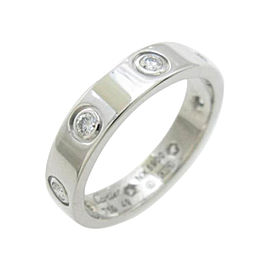 Cartier White Gold Mini Love Diamond Ring Size 4.75