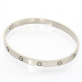 Cartier 18K White Gold Love Bangle Bracelet
