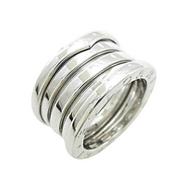 Bulgari B zero1 750 White Gold Band Ring Size U.S. 3.75 EU 46