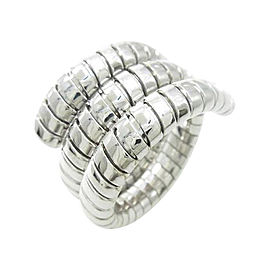 Bulgari 750 White Gold Tubogas Ring