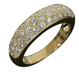Cartier 18K Yellow Gold Mini Star Pave Diamonds Ring Size 7