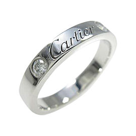 Cartier 950 Platinum Engraved 2P Ring 4