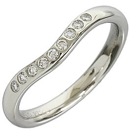 Tiffany & Co. Platinum 9 Diamonds Curved Ring