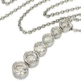 Tiffany & Co. Platinum Jazz Drop Dial Necklace