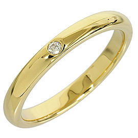 Tiffany And Co. 18K Yellow Gold Diamond Band Ring
