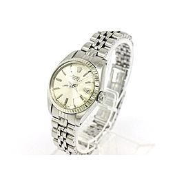 Rolex Oyster Perpetual Date 6917 Stainless Steel & 18K White Gold 26mm Watch