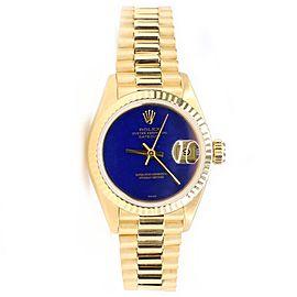 Rolex President Datejust 26MM Blue Lapis Lazuli Dial Yellow Gold Watch