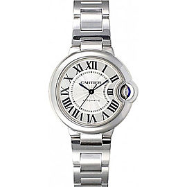 Cartier Ballon Bleu W6920071 Stainless Steel with Silver Dial Automatic 33mm Womens Watch