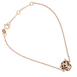 EFFY 14k Rose Gold Diamond and Tsavorite Panther Bracelet
