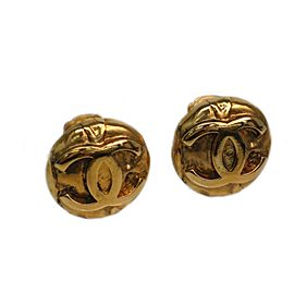 Chanel Metal Coco Clip Earrings