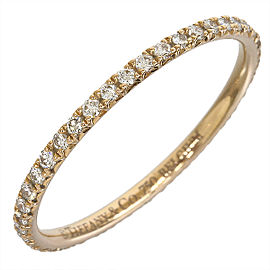 Tiffany And Co. 18K Pink Gold Diamond Ring