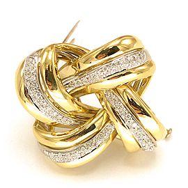 Petochi 18k Yellow Gold Antique Diamond Brooch