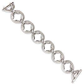 18k White Gold Circles Diamond Bracelet