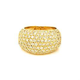 Estate 18K Yellow Gold Diamond Bombe Style Ring