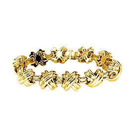 Tiffany & Co Signature X 18k Yellow Gold Classic Vintage Link Bracelet