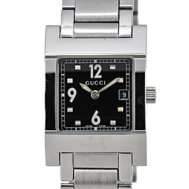 GUCCI 7700L black Dial Stainless Steel Quartz Ladies Watch