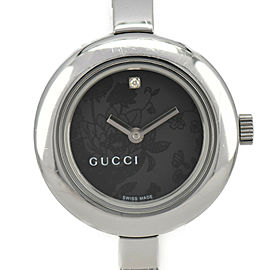 GUCCI 105 YA105511 1P diamond black Dial Quartz Ladies Watch