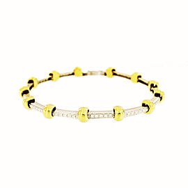 Wempe 18K White and Yellow Gold with Diamonds Bracelet