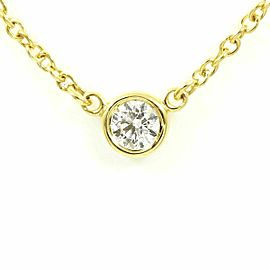 Tiffany & Co. 18K Yellow Gold Diamond By The Yard Necklace Pendant CHAT-202