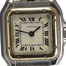 Cartier Stainless Steel & 18K Yellow Gold Quartz 21.5mm Womens Watch