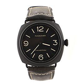 Panerai Radiomir Manual Watch Ceramic and Leather 45