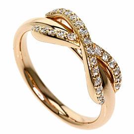 TIFFANY & Co. 18k Pink Gold Diamond Infinity Ring