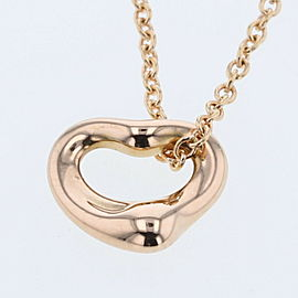 TIFFANY & Co. Open Heart Mini K18Rose Gold Necklace TBRK-258
