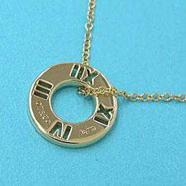 TIFFANY & Co. 18k yellow gold Diamond 4P Atlas Necklace