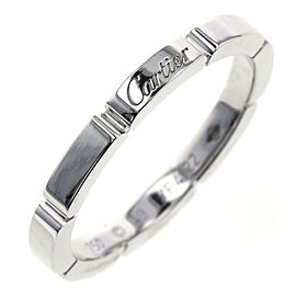 CARTIER 18KWhite Gold Mayon PANTHERE EU59 Ring TBRK-325