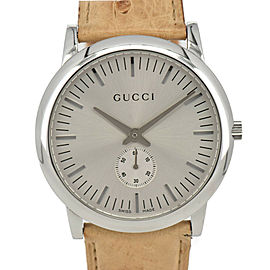 GUCCI mechanical 5600M Small seconds Silver Dial Hand Winding Mens Watch