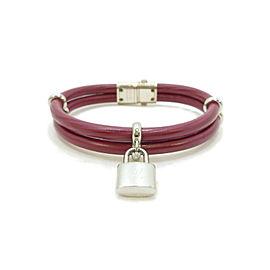 LOUIS VUITTON Epi Leather/Metallic Keep It Twice Bracelet M6514F