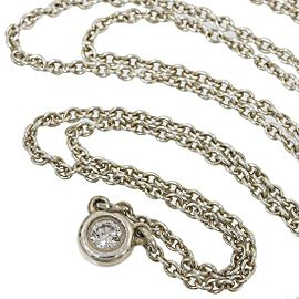 Tiffany & Co. 925 Sterling Silver Elsa Peretti Diamond by the Yard Pendant Necklace
