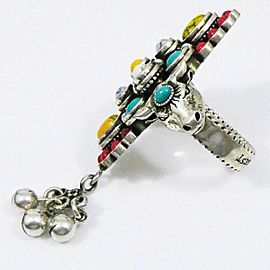 Gucci Silver 925 Beaded Anger Forest Bull's Head Ring CHAT-66