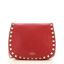 Valentino Rockstud Saddle Crossbody Bag Leather Mini