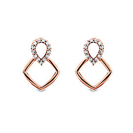 Wispy Teardrop Diamond Earrings 10k Gold - rose-gold