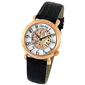 Stuhrling Wall Street 108.12457 Rose-Tone Stainless Steel & Leather 35mm Watch