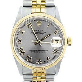 Rolex Datejust 18K Yellow Gold & Stainless Steel 36mm Watch